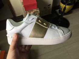 Wholesale Camouflage Canvas Shoes - brand Women Men casual shoes camouflage genuine leather lace up couple shoes luxury brand unisex rivets flat shoes 36-46