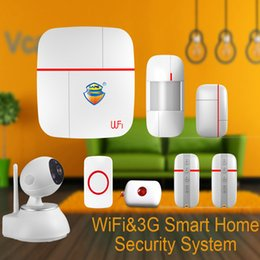 Wholesale Home Button 3g - Wholesale- (1set) Vcare WIFI 3G WCDMA Data Stream Smart for Home Alarm System with Motion Door Window Sensor Medical Emergency Button Ver B