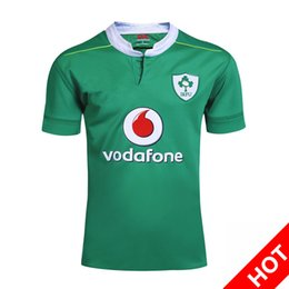 Wholesale Heat Transfer Logo Printing - NRL National Rugby League Ireland Country 2016-17 new jersey shirt (team logo stitched!!!) High-temperature heat transfer printing S-3XL