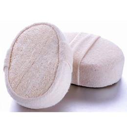 Wholesale Fresh Brush - Wholesale-Soft Fresh Natural Loofah Luffa Sponge Shower Spa Body Scrubber Exfoliator Bathing Massage Brush Pad Beige