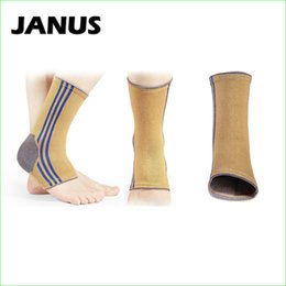 Wholesale Elbow Sprain - Wholesale- JANUS Elastic Ankle Sleeve Compression Foot Warmup Soccer Sprain Ankle Joint Protector One Piece