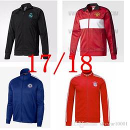 Wholesale Milan Retro - 17 18 Club America Jacket Soccer Jersey Retro Football Shirts Equipment Long Sleeve Man tracksuits AC milan Real Madrid Ajax jacket Uniform
