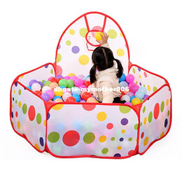 Wholesale Tent Pool Ball Pit - Large Children Kid Ocean Ball Pit Pool Game Play Tent with Ball Hoop Indoor Outdoor Garden Playhouse Kids Tent