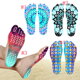Wholesale Smile Stick - Beach Invisible Anti Slip Insoles Starry Emoji Smile Mandala Nakefit Thermal Insulation Waterproof Soles Stick On Feet Pads Socks JU182