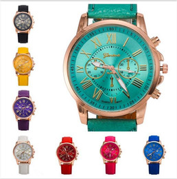 montres de variété Promotion Nouvelle mode en cuir doré montre Genève double face une variété de couleurs des hommes élégants montres a795
