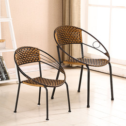 Wholesale Furniture Dining Rooms - Simple dining chair outdoor garden rattan chair sofa fashion garden hotel leisure all day wicker furniture