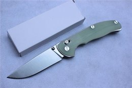 Wholesale Outdoor Axes - Shirogorov tabargan 95 folding knife 9Cr18Mov blade Jade handle axis system outdoors Survival camp hunt Tactical pocket knives EDC tool