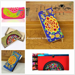 Wholesale Casual Ladies Handmade Bags - 2017 characteristics of ethnic characteristics China embroidery embroidered lady Long Bag Wallet Purse handmade embroidery Free Delivery