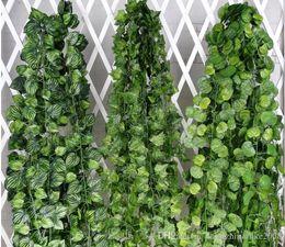 Wholesale Cheap Christmas Garlands - Artificial Potato hitom watermelon grape mony plant Vine Leaf Ivy Wall Hanging Plant Rattan Wedding Christmas Garlands Ornament cheap price