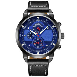 Wholesale Wholesale Stop Watch - 2017 Practical Outdoor Digital 3ATM Water resistant Mens Sport Watches Rattrapante Six Needle Eye Stop Watch Custom Logo Male Quartz Watches