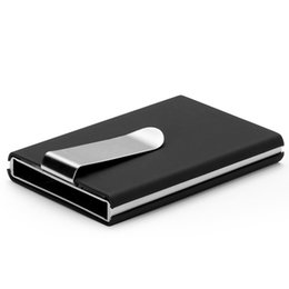 Wholesale Rfid Travel Automatic Card Wallet Men Women Business ID Credit Card Holder with metal clip Wallets