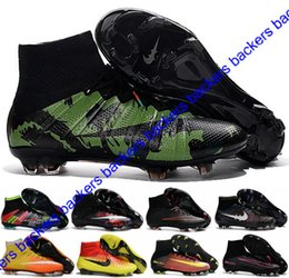 Wholesale Cheap Spiked Shoes For Men - 2017 New Kids Magista Obra Cheap football Soccer Shoes Botas For Men Mercurial Superfly FG Football Boots CR7 AG Mens Soccer Cleats Boots