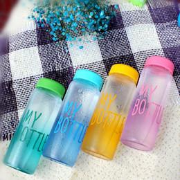 500ml Fashion My Bottle Healthy Tritan Plastica Garrafa Fruit Lemon Succo Bottiglie Sport Outdoor Cup Bottiglie di acqua a buon mercato da