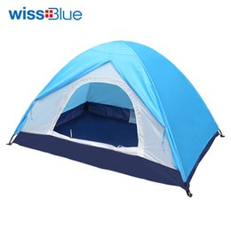 Wholesale Inflatable Field - Wholesale- WissBlue Inflatable Bubble Camping Tent For Fishing Hunting Tourist Flytop Pyramid Double Camouflage Transparent Mosquito Net