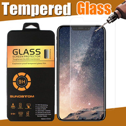 wholesale iphone tempered glass Australia - Tempered Glass Screen Protector 9H Film Guard For iPhone XS Max XR X 8 Plus 7 6 Samsung Galaxy S9 S8 Note 9 J2 Pro J7 Prime Duos Retail Box