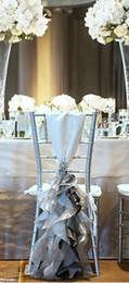 Por encargo 2017 de tafetán de organza de cristal fundas de la silla Vintage romántico de la silla fajas hermosas decoraciones de la boda de la manera 02 desde fabricantes