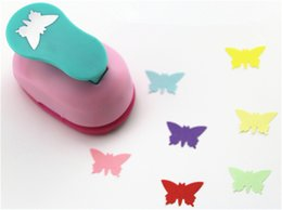 Wholesale Wholesale Craft Puncher - Wholesale- freeship 3 8'' 1cm butterfly paper punch scrapbooking punches craft perfurador paper punch for kids furador diy puncher 31713