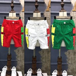 Wholesale Skinny Jeans Korean Style - Summer New Children Shorts Korean boys Girls Ripped Jeans hole pants kids Fashion Jeans baby Short Jeans Boys Kids Clothes casual pants A654
