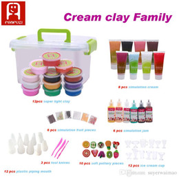 Wholesale Diy Simulation Cream - simulation cream children DIY toys fruit miniature cake educational toys playdough super light clay 2017 the newest creative