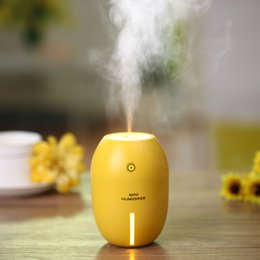 Wholesale Wholesale Lemon Oil - Creative Lemon Style USB Ultrasonic Humidifier With Colorful Led Light Essential Oil Aroma Diffuser Auto Off Touch Switch