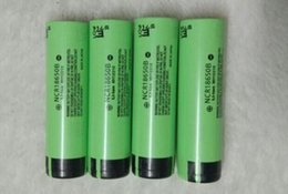 Wholesale Tab Batteries - NCR18650B W h Tabs 3400mah 18650 li-ion Rechargeable battery For panasonic Original 3.7v flat top for notebook powerbank