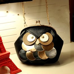 Wholesale Satchel Bags Owl - 2017 summer new fashion women bags owl shell bag mobile phone mini shoulder Messenger bag tide small bag chain handbags fashion