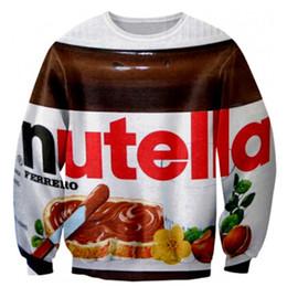 Canada Alisister Drôle femmes hommes Nutella pulls nouveauté vêtements imprimés aliments chocolat pullover hoodies 3d harajuku sweat shirts Offre