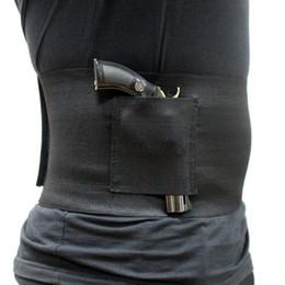 Pistole pistole online-Nuova fascia nascosta per pistola Fondina per fodera con fodera per pistola addominale elastica con 2 caricatori