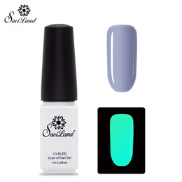 Wholesale Glowing Gel Nail - Wholesale-Saviland 1pcs UV Gel Night Glow In Dark Lacquer Varnishes Soak-off Nail Gel Fluorescent Luminous Colors Nail Polish