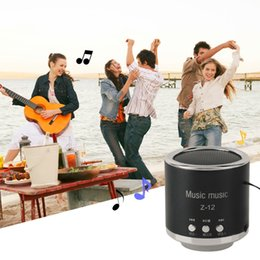 Wholesale Mini Card Stand - Wholesale- Mini Rechargeable Portable Wireless FM Radio TF USB Speaker Passive Subwoofer Floor-Standing Support TF Card For Phone Tablet