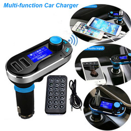 Discount bluetooth mobile phone adapter - Car FM BT66 Transmitter Bluetooth Hands-free LCD MP3 Player Radio Adapter Kit Charger Smart Mobile phone with Retail Package