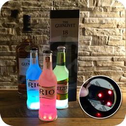 Wholesale Paste Cup - LED Luminous Bottle Coasters Label Ultrathin High Brightness Colorful Flash Popular Waterproof Universal Cup Bottom Paste 2 5mj R