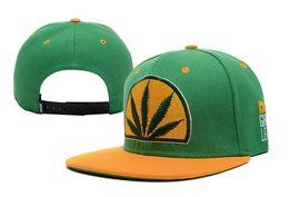 Wholesale Pop Red - HOT! Colorful Baseball Hat caps snapbacks Hip-hop Rasta Leaf Pot Flat Pop Bill Snapback Baseball Cap hats