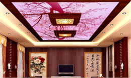 Wholesale Stretch Sound - papel pintado pared custom 3d photo ceiling Dream pink 3d ceiling wallpapers for living room stretch ceiling film