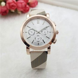 Wholesale Men Leather Band Watches - Wholesale Fashion mens women luxury watches top brand 3 Eyes Leather band Dress Sport Quartz watches for men ladies best gift wristwatches