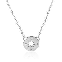 Wholesale Copper Compass - SMJEL Wholesale Men Power Necklace Chokers Necklace Beautiful Simple Charms Compass Necklaces for Women 10pcs-N089