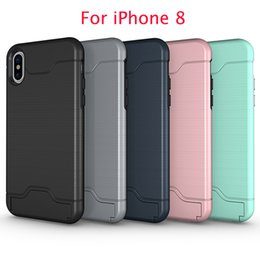 Wholesale Apple Product Wholesale - 5 different colors available 2 in 1 support holder and bank card put in product for iPhone X case