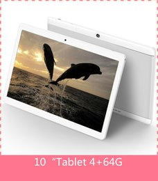 Wholesale Metal Inch Tablet Pc - 10.1 inch Metal case Tablet android tablet PC Octa Core RAM 4GB ROM 64GB 1280X800 IPS Dual sim card Phone Call Tablet PC Android 6.0