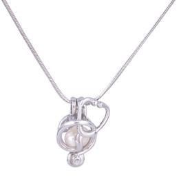 18KGP Perlenkäfig-Anhänger-Stethoskop-Form-Perlen-Edelstein-Korn-Käfig-Auster Medaillon-Anhänger, DIY Halskette Jelwery von Fabrikanten