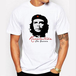 Wholesale female panel - Short sleeve Cotton che guevara revolution printed men t-shirt casual o-neck men's T-shirt female tee shirt men Tshirt