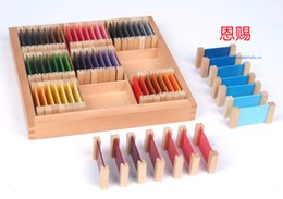 Wholesale baby tablets - Wholesale- Third box of colore tablets 3012montessori toys educational wooden materials set teaching cylinders beads baby kinds toys school