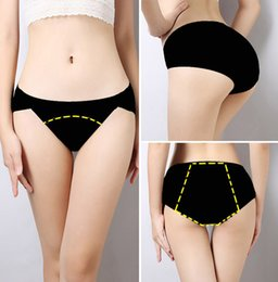 Wholesale Menstrual Panties - New Plus Size Sexy Menstrual Period Proof Leakproof Panties Panty Underwear Intimates Briefs Apparel Clothing Women's Ladies Low Waist Modal