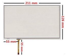 Wholesale Lcd Car Dvd - original New 9 inch 210mm*125mm 211mm*126mm touch panel digitizer For Industrial equipment Car DVD GPS tablet PC LCD touch screen