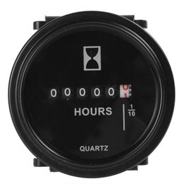 Wholesale fork lift trucks - 2 Inch DC 8-80V Round Hour Meter Industrial Electronic Mechanical Timer for Race Car   Fork Lifts   Trucks   Boats CEC_900