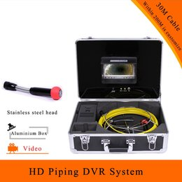 Wholesale System Pipe Inspection - (1 set) 30M Cable 7 inch Color Monitor Display Piping DVR System Mini Camera HD 1100 TVL CMOS Lens Well inspection endoscope