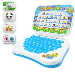 Wholesale Educational Computer For Kids Children - Wholesale-Chinese English Language Table Learning Computer Model for Children Early Education Toys for Kids Learning Tablet