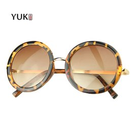 Wholesale Occhiali Da Sole - Wholesale-YUKII Retro Round Sunglasses Women Brand Designer Luxury Sun Glasses occhiali da sole donna