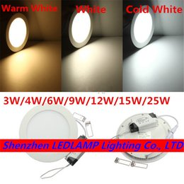 Wholesale Thin 1w Led - Wholesale- Ultra thin LED Panel Light Recessed LED Ceiling Light Spot Down Light with driver AC85-265V Warm White Natural White Cold White