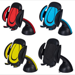 Wholesale Universal Cradle Phone Car - Universal 360 Rotating Car Mount Stand Holder Adjustable Width Windshield Cradle For Celllphone Samsung Galaxy S7 edge iphone 6 phone