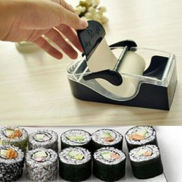 Wholesale Perfect Machine - SuShi Maker Newest DIY Sushi Roller Cutter Perfect Machine Roll Magic Rice Mold Maker Kitchen Accessories Tools Gadgets CCA8334 100pcs